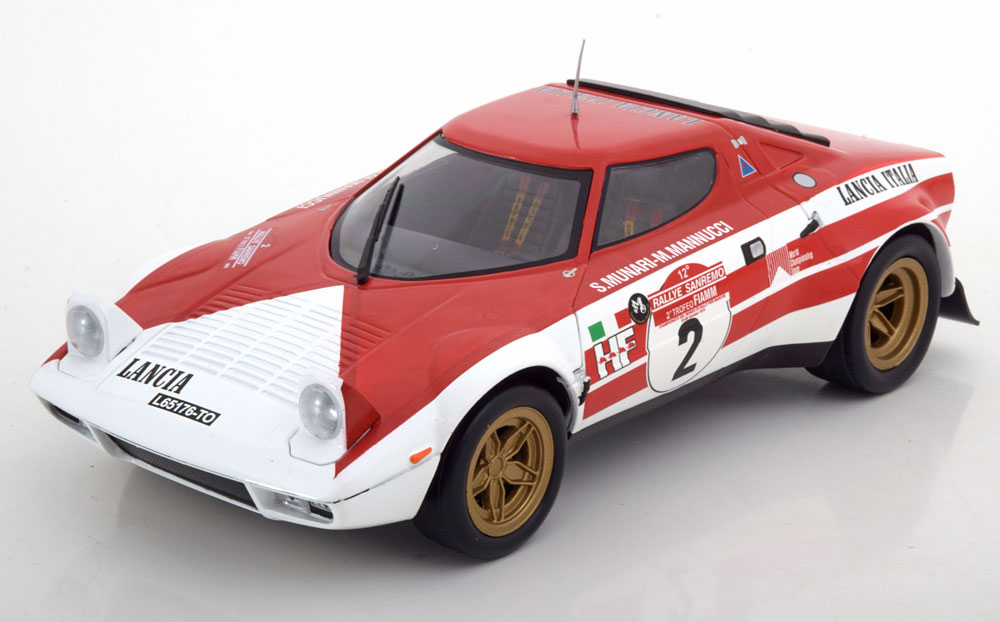 Triple9 1:18 1975年サンレモラリー優勝モデル ランチア ストラトス HF No.2 「Marbolo」デカール付き1974 Lancia Stratos #2 winner San Remo Rally S.Munari/ M.Mannucci 1/18 by Triple 9