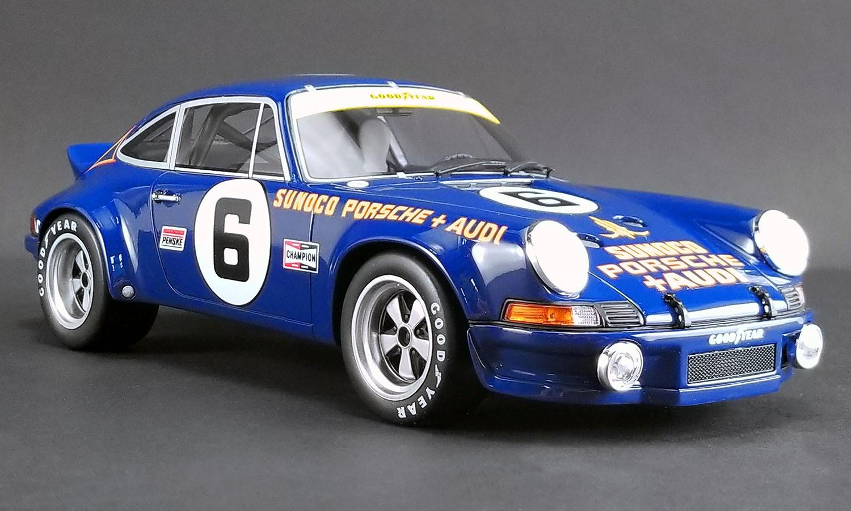 GT Spirit 1:18スケール レジン・プロポーションモデル 1973年デイトナ24時間 ポルシェ 911 RSR No.61973 Porsche 911 RSR #6 Mark Donohue & George Follmer 24h of Daytona 1/18 by GT Spirit NEW