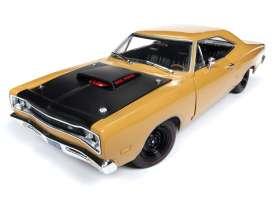 Autoworld オートワールド 1/18 ミニカー ダイキャストモデル 1969.5年モデル ダッジ Super Bee バタースコッチブラウン1969.5 Dodge Super Bee 1:18 Autoworld