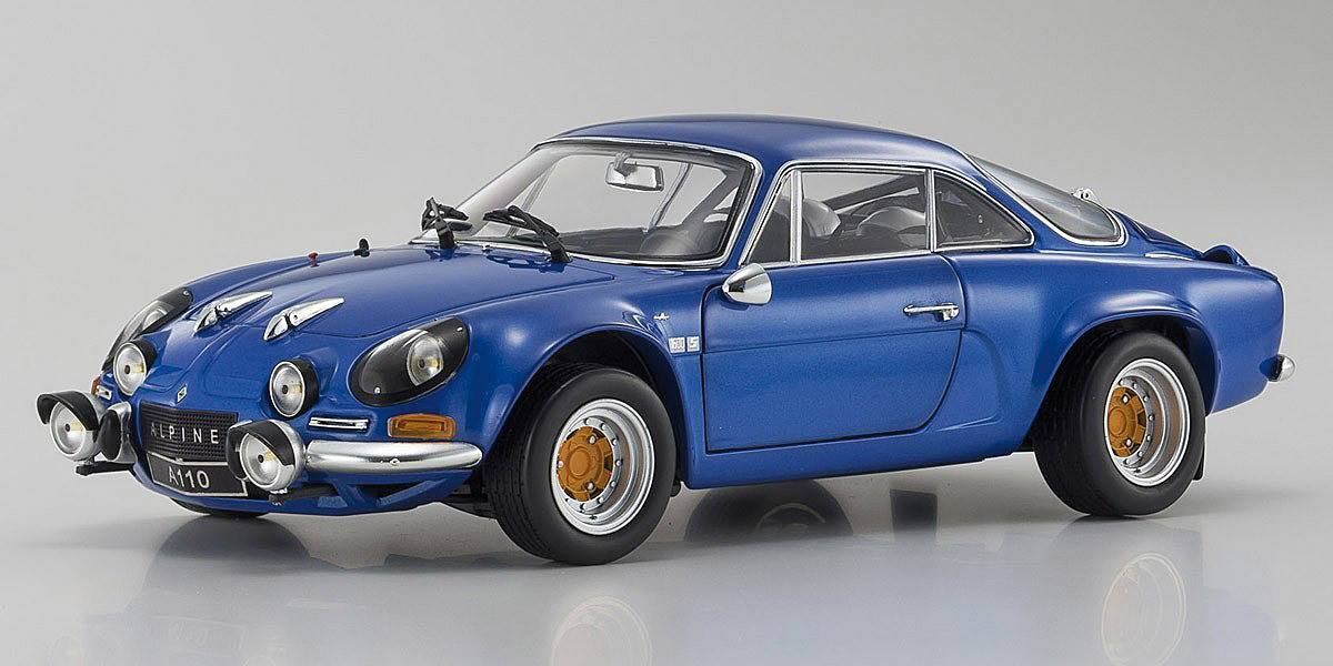Kyosho 京商 1/18 ミニカー ダイキャストモデル 1973年モデル ルノー アルピーヌ A110 ブルーカラー1973 Renault Alpine A110 Rally *Street Edition*, 青 1/18 by Kyosho