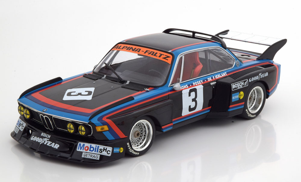 Minichamps ミニチャンプス 1/18 ミニカー ダイキャストモデル 1/18 1976年シルバストーン6時間 BMW 3.5 CSL No.3BMW 3.5 CSL #3 4th 6h Silverstone 1976 de Fierlant, Grohs 1:18 Minichamps