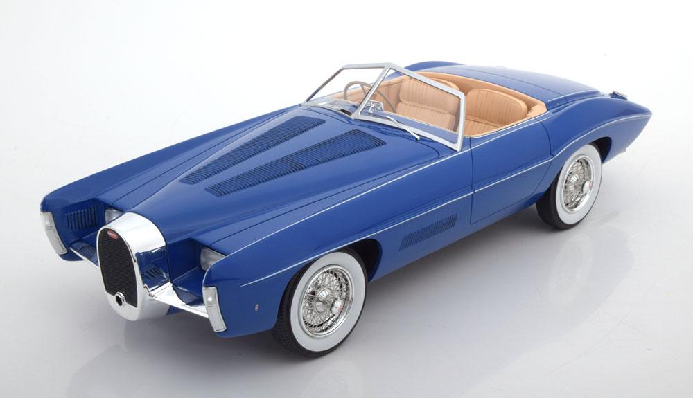 Matrix 1:18 1966年モデル ブガッティ Type 101C ブルー BUGATTI - T101C sn101506 EXNER GHIA SPIDER 1966 1/18 Model Car by Matrix