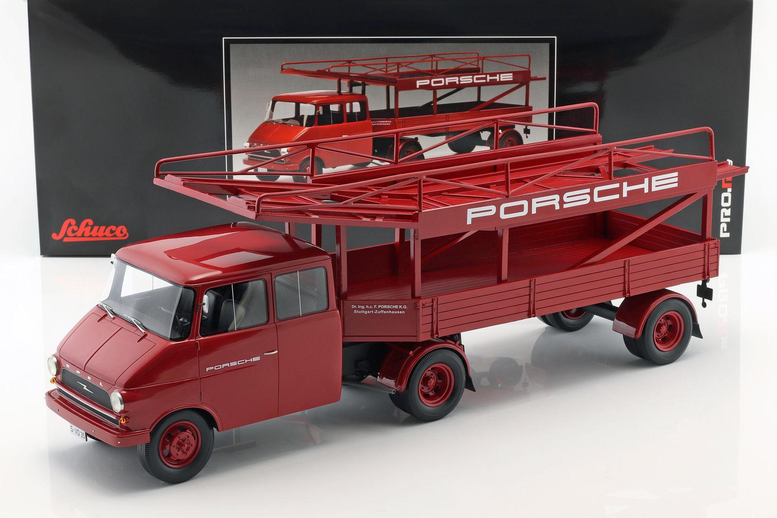 Schuco シュコー 1/18 ミニカー レジン プロポーションモデル 1952年モデル オペル Blitz Truck Transporter OPEL - BLITZ TRUCK CAR TRANSPORTER PORSCHE RACING 1952 1:18 Schuco