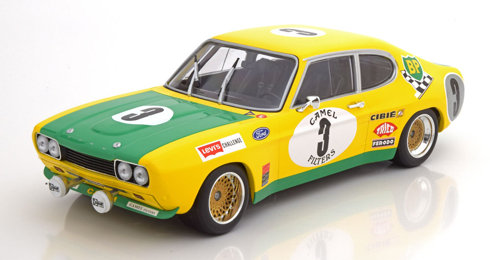 Minichamps ミニチャンプス 1/18 ミニカー ダイキャストモデル 1972年SPA 24hrs フォード カプリ 2600RS No.3FORD ENGLAND - CAPRI 2600RS N 3 2nd 24h SPA 1972 G.BIRRELL - C.BOURGOIGNIE 1:18 Minichamps