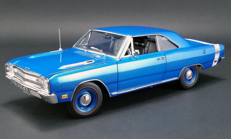 ACME 1/18 ミニカー ダイキャストモデル 1969年モデル ダッジ ダート GTS 440 B5(Color Code)ブルー1969 DODGE DART GTS 440 1:18 B5 Blue by ACME