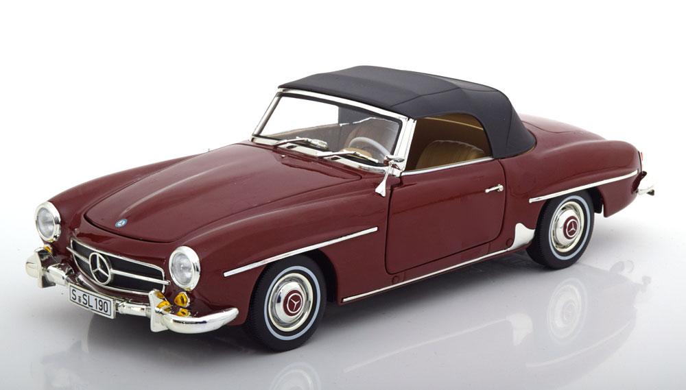 ディーラーモデル 1/18 ミニカー ダイキャストモデル 1955年モデル メルセデスベンツ 190SL W121 ダークレッドMERCEDES BENZ - 190SL SPIDER (W121) 1955 1:18 Mercedes Benz AG