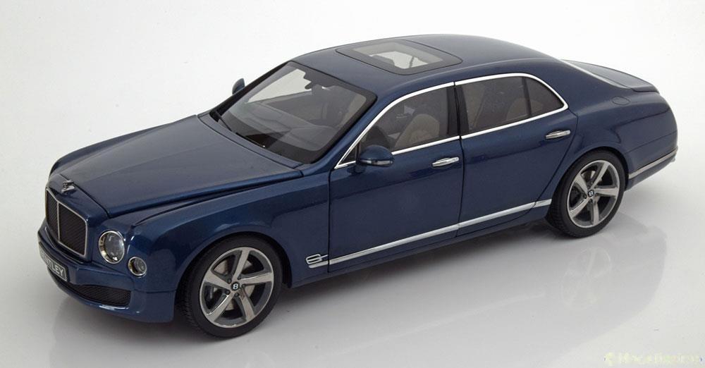 Kyosho 京商 1/18 ミニカー ダイキャストモデル 2014年モデル ベントレー Mulsanne ミュルザンヌ Speed ブルーメタリック2014 Bentley Mulsanne Speed Marlin blue metallic 1:18 Bentley Motors