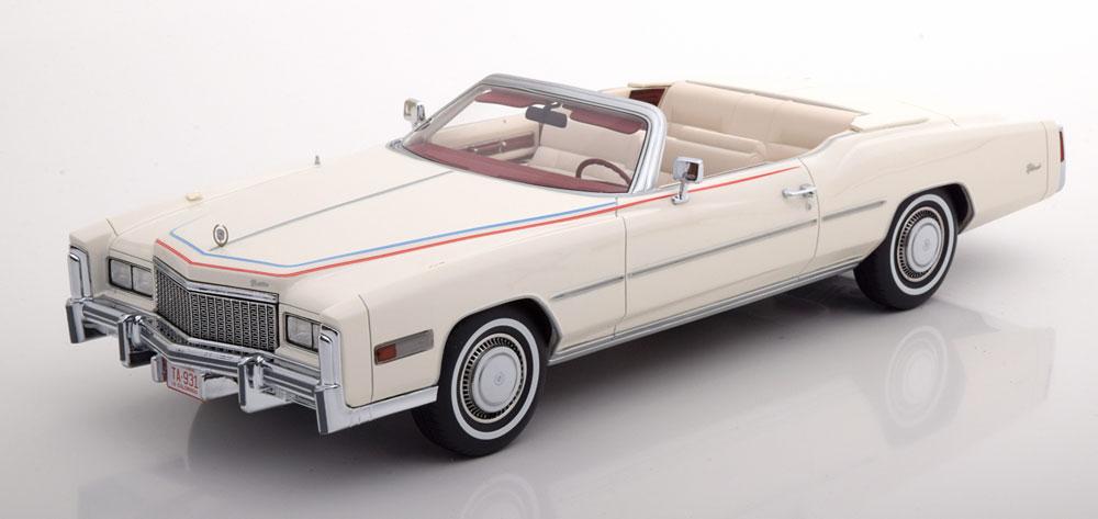BoS Models 1/18 ミニカー レジン プロポーションモデル 1976年モデル キャデラック エルドラド コンバーティブル ホワイト Bicentennial(200周年限定モデル)Cadillac Eldorado Convertible Bicentennial, weiss, 1976 1:18 Bos Models