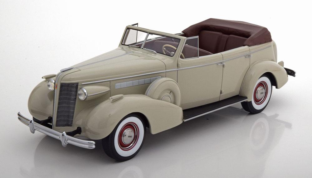 BoS Models 1:18スケール レジン プロポーションモデル 1937年モデル ビュイック トードマスター 80-C グレーカラー1937 Buick Roadmaster 80-C Four Door Phaeton Grey by BoS Models LE 252 1/18 NEW