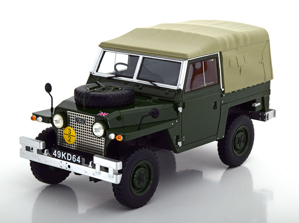 BoS Models 1/18 minicar resin proportion model 1968 model Land Rover  lightweight series IIA RHD right-hand drive dark green Land Rover  Lightweight