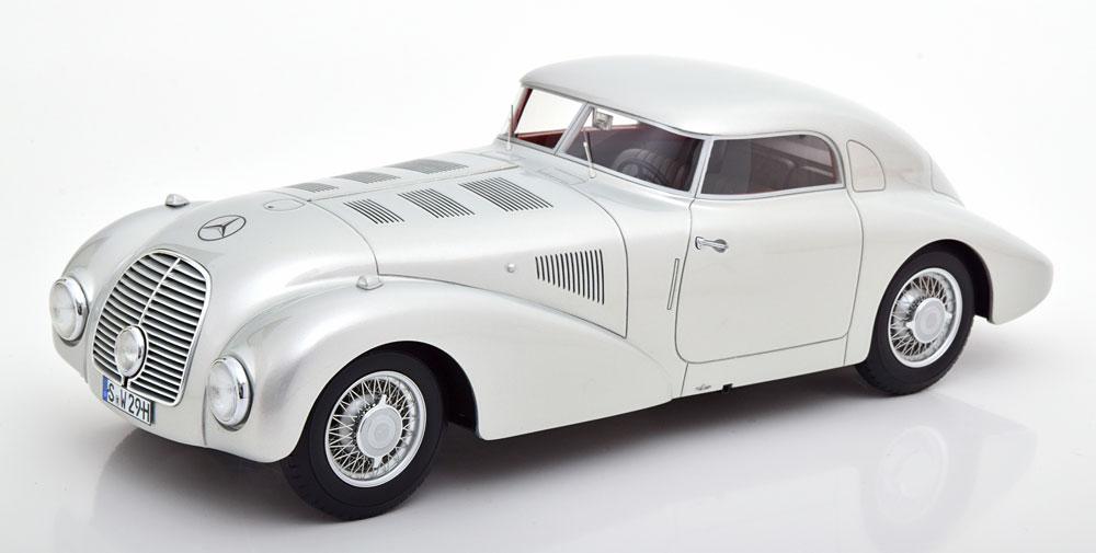 BoS Models 1:18 1938年モデル メルセデスベンツ 540K W29 ストリームライン シルバーMercedes-Benz 540 K (W29) Streamlined car Year 1938 silver 1:18 BoS-Models