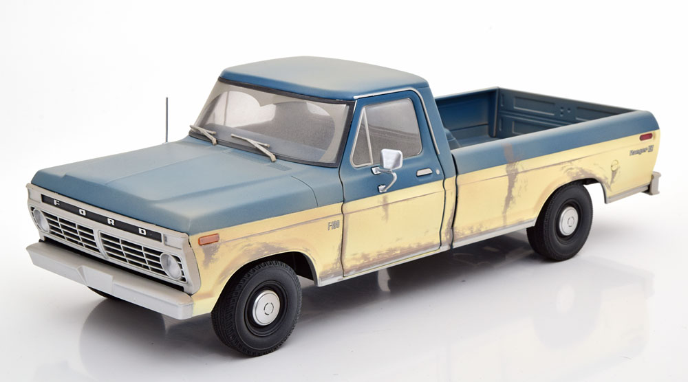 FOX TV公式商品 Greenlight グリーンライト 1:18 1973年モデル フォード F100 トラック The Walking Dead1973 Ford F-100 Pickup - The Walking Dead (TV Series, 2010-Current)1/18 Diecast Model Car by Greenlight