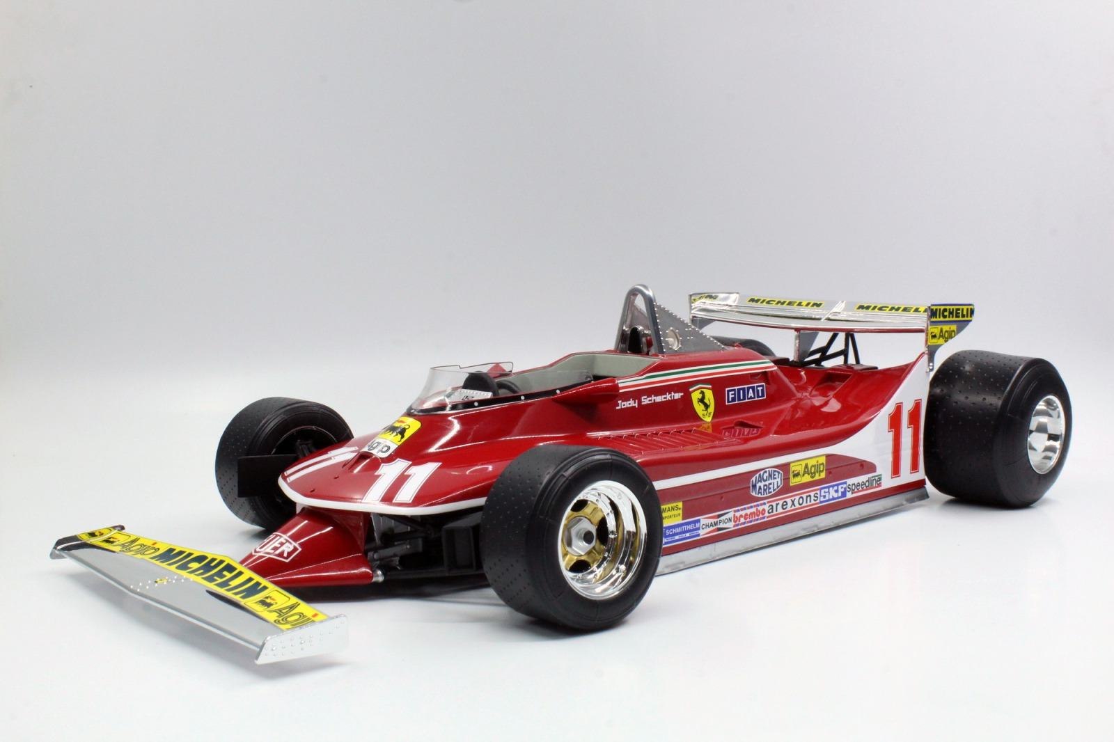 GP Replicas 1/12 ミニカー レジン プロポーションモデル 1979年ワールドチャンピオン フェラーリ F1 312T4 No.11 J.ScheckterFERRARI - F1 312T4 SHORT TAIL N 11 J.SCHECKTER SEASON 1979 WORLD CHAMPION 1:12 GP Replicas