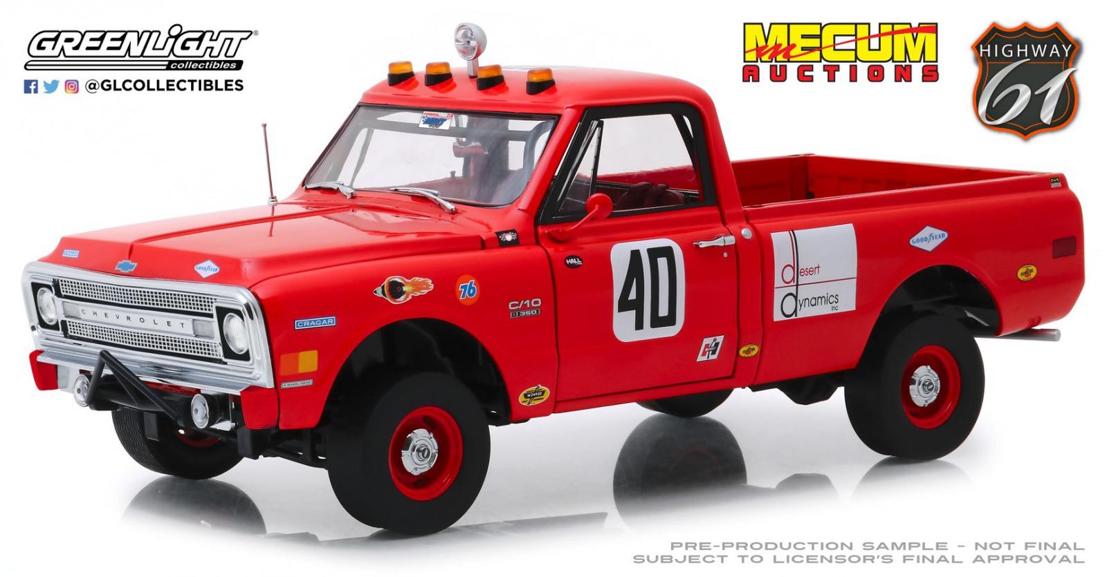 Highway 61 1/18 ミニカー ダイキャストモデル 1969年モデル Baja1000 シボレー C-101969 Chevrolet C-10 Baja 1000 Truck 1:18 red by Highway 61