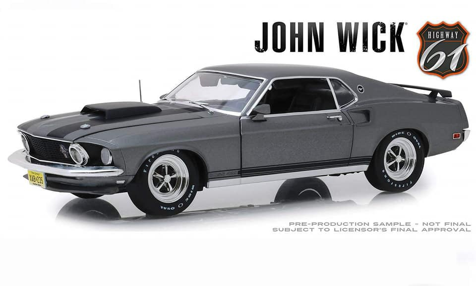 Highway 61 1/18 ミニカー ダイキャストモデル 2014年公開「John Wick」劇中車 1969年モデル フィード マスタング BOSS 4291969 Ford Mustang Boss 429 *John Wick (2014)* 1:18 Highway 61