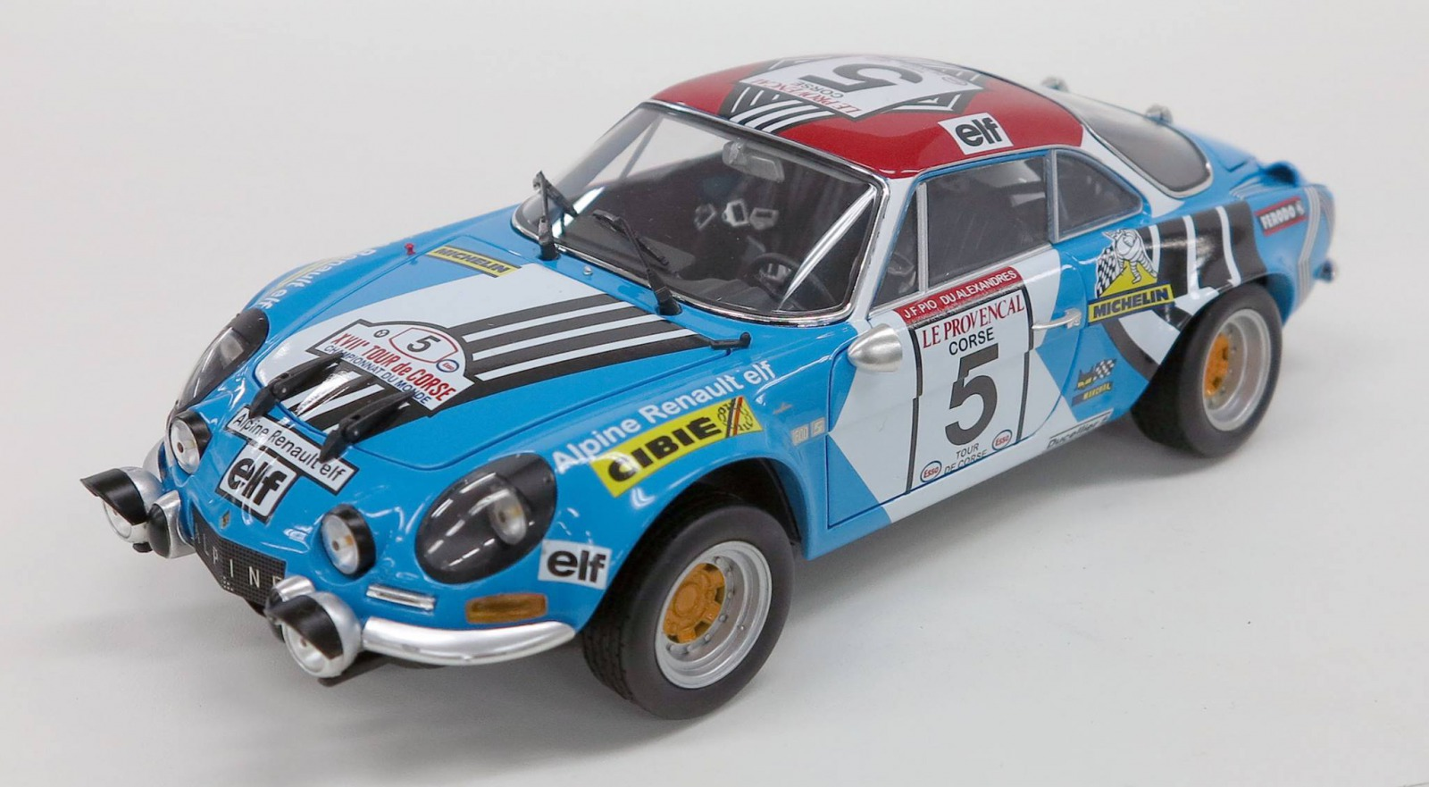 Kyosho 1:18スケール ダイキャストモデル 1973年ツール・ド・コルス ルノー アルピーヌ A110 No.51973 Renault Alpine A110 #5 Tour de Corse Jean-Luc Thrier 1/18 by Kyosho 京商