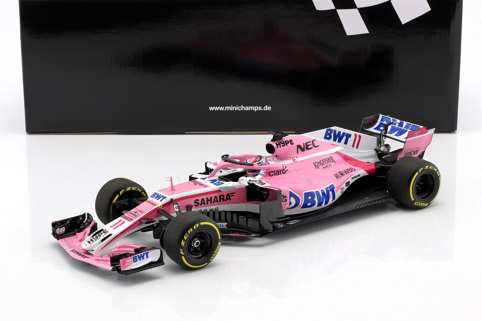 Minichamps ミニチャンプス 1/18 ミニカー ダイキャストモデル 2018年シーズン フォースインディア VJM11 F1 Force India VJM11 formula 1 2018 1:18 Minichamps