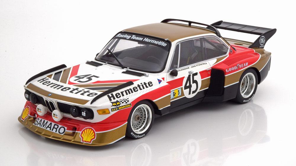 Minichamps ミニチャンプス 1/18 ミニカー ダイキャストモデル 1976年ルマン24時間 BMW 3.5 CSL No.45BMW 3.5 CSL HERMETITE WALKINSHAW/FITZPATRICK 24H LE MANS 1976