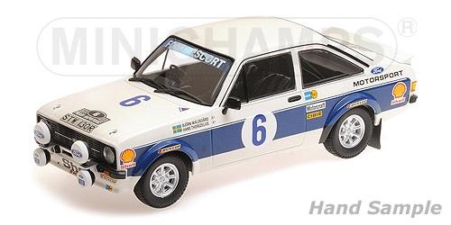 Minichamps ミニチャンプス 1/18 ミニカー ダイキャストモデル 1977年ラリーアクロポリス フォード エスコート MKII RS 1800 No.6FORD ENGLAND - ESCORT MKII RS1800 N 6 WINNER RALLY ACROPOLIS 1977 B.WALDEGARD - H.THORSZELIUS 1:18 Minichamps