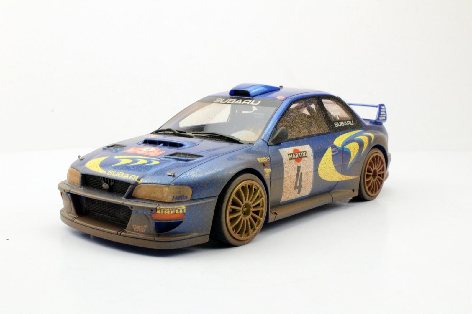 Top Marques トップマルケス 1/18 ミニカー レジン プロポーションモデル 1998年ラリーサンレモ2位 スバル インプレッサ S4 WRC No.4 汚れ仕様SUBARU - IMPREZA S4 WRC N 4 2nd RALLY SANREMO DIRTY VERSION 1998 P.LIATTI - F.PONS 1:18 Top Marques