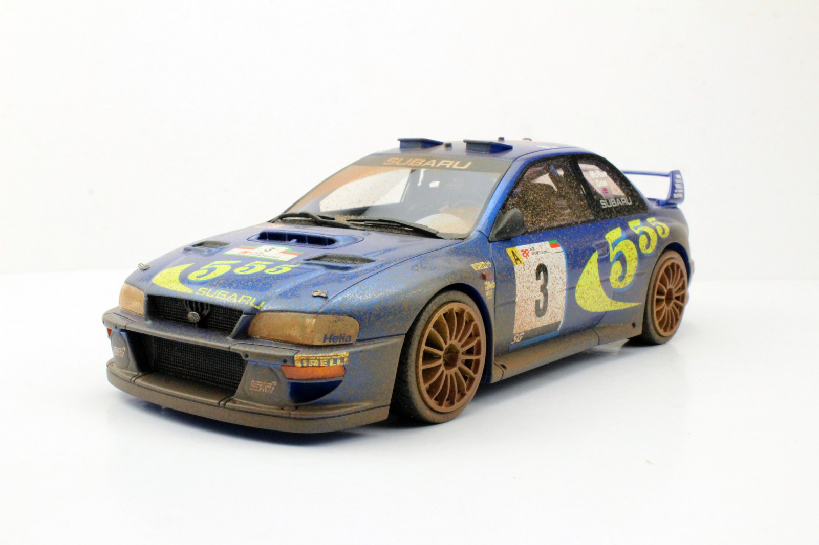 Top Marques トップマルケス 1/18 ミニカー レジン プロポーションモデル 1998年ラリーポルトガル優勝 スバル インプレッサ S4 WRC No.3 汚れ仕様SUBARU - IMPREZA S4 WRC N 3 WINNER RALLY PORTUGAL DIRTY VERSION 1998 C.MCRAE - N.GRIST 1:18 Top Marques