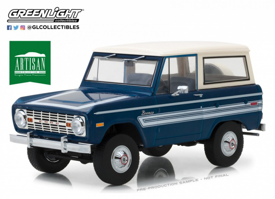 Greenlight 1:18 1976年モデル フォード ブロンコ Explore PackageArtisan Collection - 1976 Ford Bronco