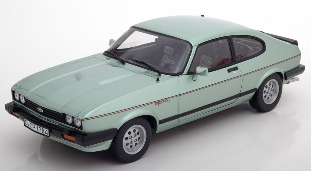 Norev ノレヴ 1:18 1982年 フォード カプリ MK.III 2.8 Injection クリスタル・メタリック・グリーン1982 Ford Capri MK.III 2.8 Injection 1/18 Crystal Metallic Green by Norev EUR