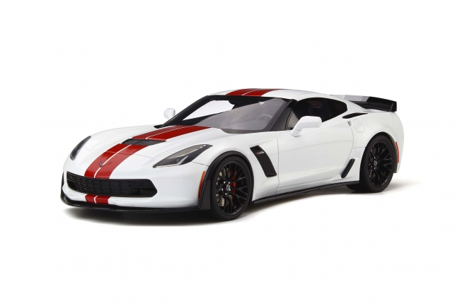 GT Spirit 1:18 2017年モデル シボレー コルベット C7 Z06 ホワイト2017 CHEVROLET CORVETTE C7 Z06 1/18 by GT Spirit NEW