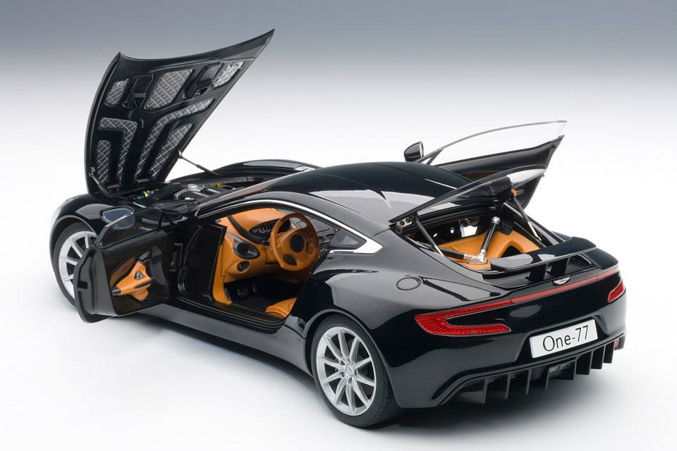 2011 Model Aston Martin One 77 Black 2011 Aston Martin One 77 1 / 18 By  AUTOart