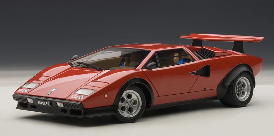 Amazing 1975 Model Lamborghini Countach Water Wolf 1975 Lamborghini Countach Water  Wolf 1 / 18 By AUTOart