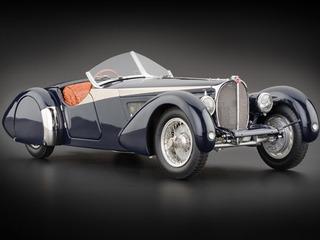 CMC 1/18 ミニカー ダイキャストモデル 1938年モデル ブガッティ 57 SC コルシカ ブルー クロコダイルパターンレザー1938 Bugatti 57 SC 1/18 CMC