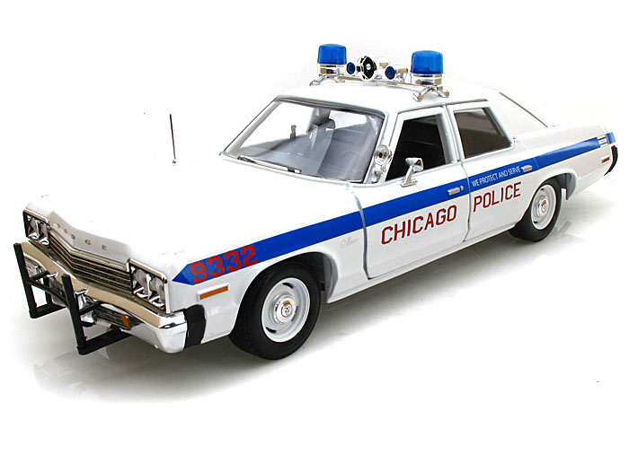 Autoworld オートワールド 1/18 ミニカー ダイキャストモデル 1974年モデル ダッジ モナコ シカゴ市警1974 Dodge Monaco Chicago Department Police Car 1/18 Limited to 2000pc by Autoworld