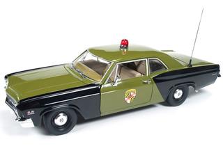 1966年モデル シボレー ビスケーン メリーランド州警察1966 Chevrolet Biscayne Maryland State Police Car 1/18 Limited to 1500pc Worldwide by Autoworld