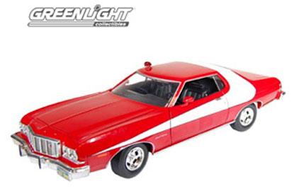 (お得な特別割引価格) Greenlight 1:18 1974-76年モデル Greenlight フォード グラン Greenlight・トリノ「スタスキー・ハッチ」1974-1976 Ford Gran フォード Torino