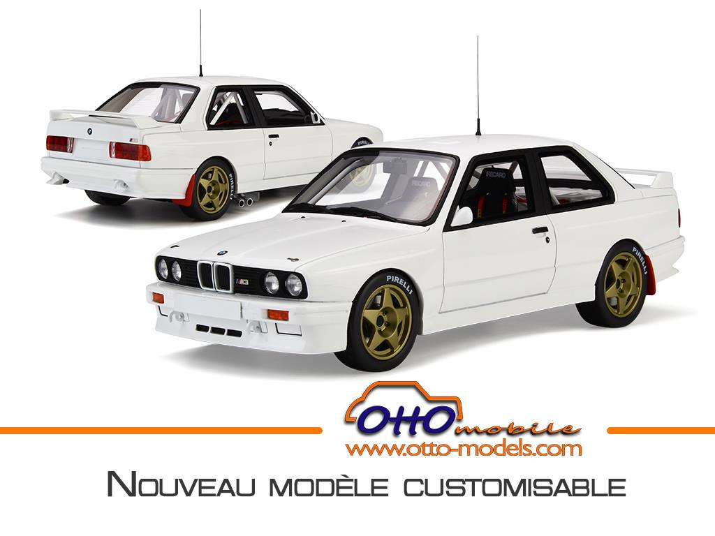 日本未発売 OttOmobile 1:18 1987年モデル BMW M3 E30 Group A Pro Drive ホワイト1987 BMW M3 E30 Gr.A Pro Drive 1/18 by OttOmobile NEW