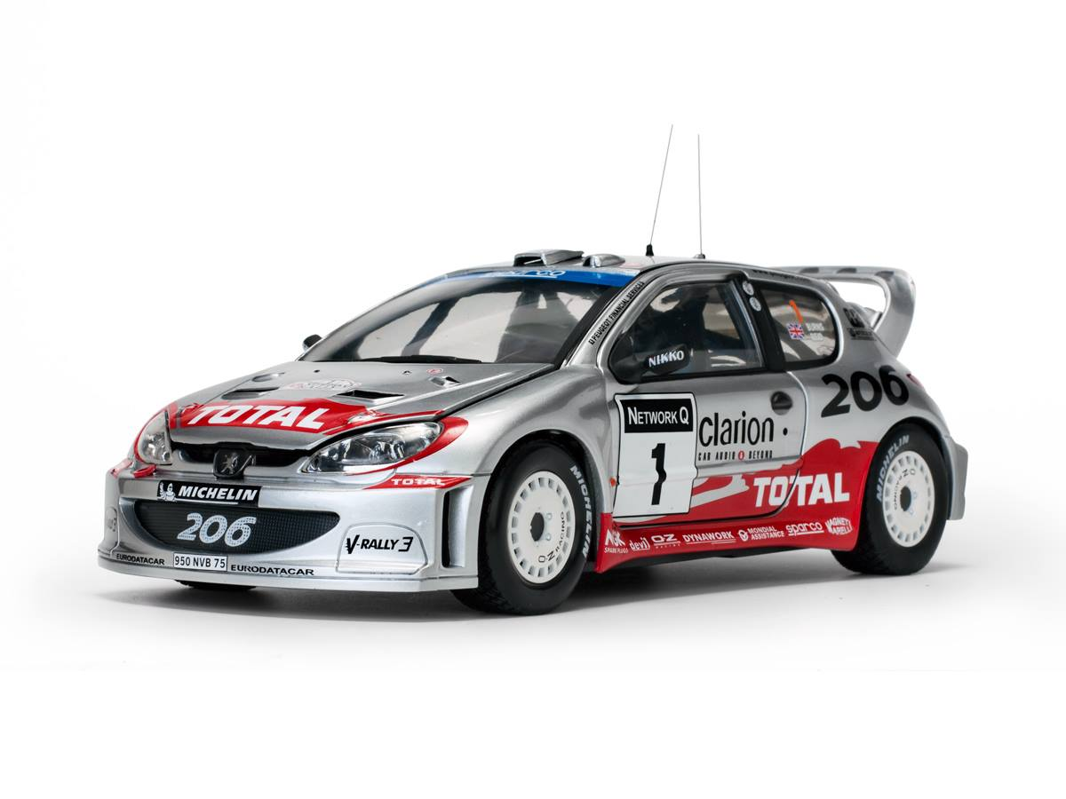 Sun Star サンスター 1:18 2002年WRC プジョー 206Peugeot 206 WRC - 2002 R.Burns/R.Reid 1/18 by Sun Star EUR