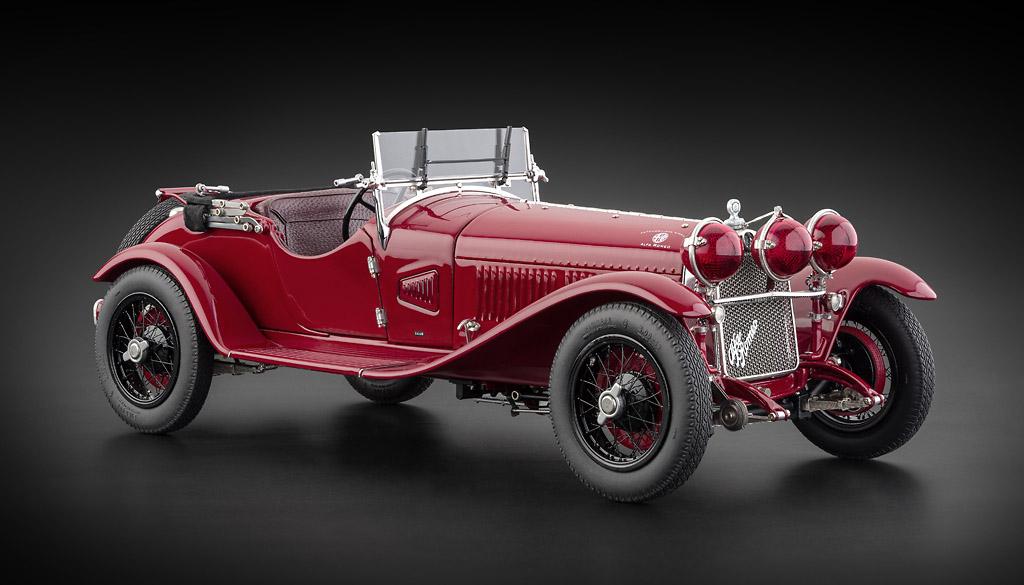CMC 1:18 1930年モデル アルファロメオ 6C 1750 GS レッド1930 Alfa Romeo 6C 1750 GS 1/18 Diecast Car Model by CMC