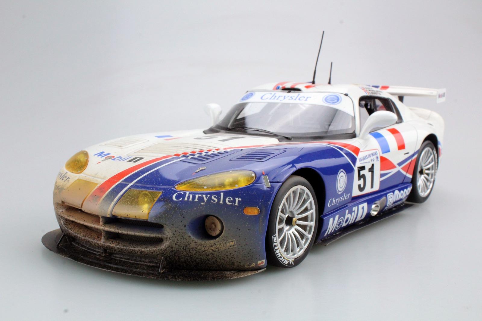 Top Marques 1/18 ミニカー 1999年ルマン24時間 ダッジ ヴァイパー GTS-R V10 No.51 ダーティバージョンDODGE - VIPER GTS-R 8.0L V10 TEAM ORECA N 51 WINNER CLASS 24h LE MANS 1999 D.DUPUY - K.WENDLINGER - O.BERETTA DIRTY VERSION 1:18 Top Marques