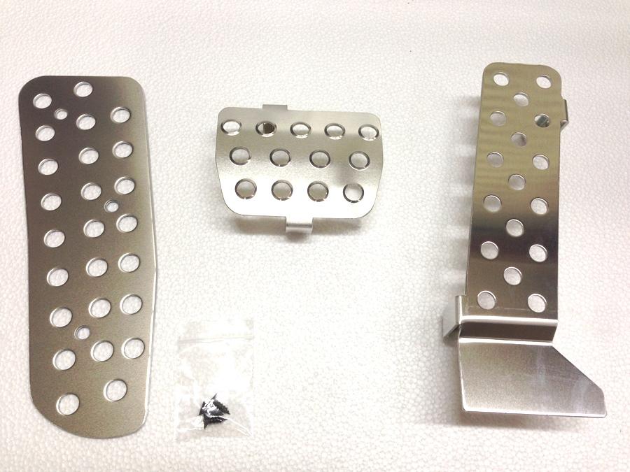 マツダロードスターND-AT用純正ペダル対応のアルミペダルカバー3点セットですロードスターRFにも対応しています。532P26Feb16