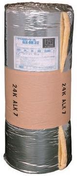 グラスウールロール(AL付)24k×25t×910mm巾×22m巻