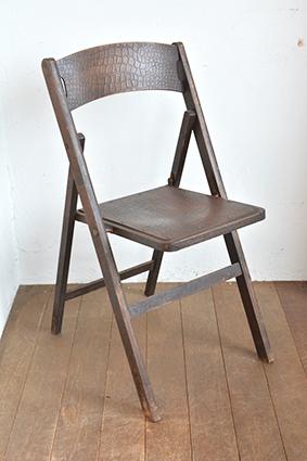 折りたたみ式チェア/イギリス/椅子/アンティーク/木製