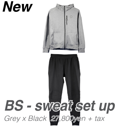 バンデル BS-sweat set up GreyxBlack