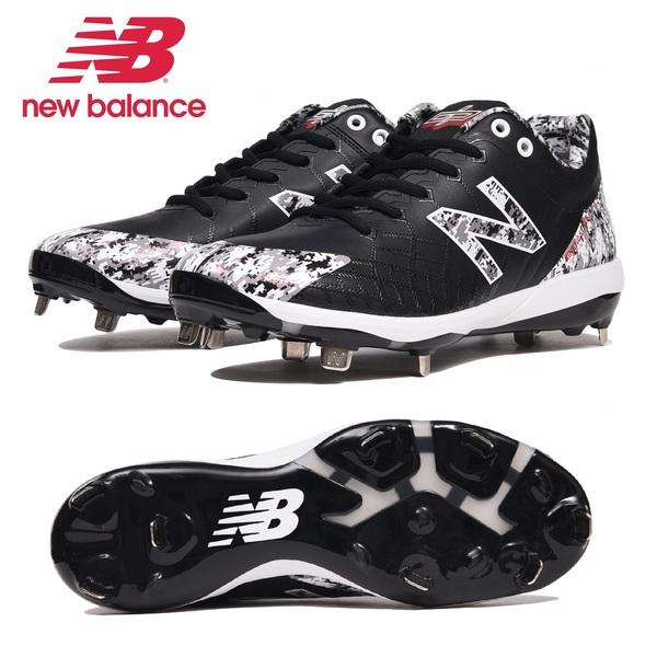 ニューバランス 野球スパイク ベースボール 埋込金具 軽量 ワイズD L4040PK5 BLACK CAMO NEW BALANCE