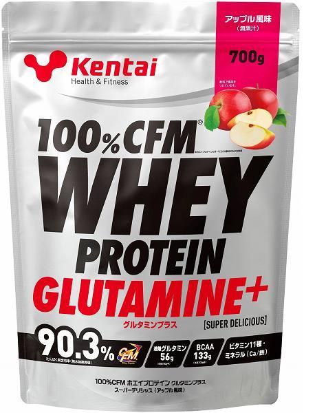 健康体力研究所(Kentai)100%CFMホエイプロテイングルタミンプラス スーパーデリシャス アップル 700gK223