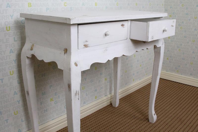 ヴィンテージ塗装 サイドテーブル 白
