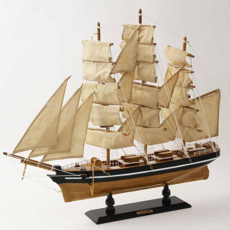 リアルな帆船の模型(Cutty Sark)/ドイツ・Seaclub(シークラブ)社/マリン/マリンテイスト/ビーチ/コースタル/西海岸/ヨーロッパ市場向け製品/日本ではレア/カティーサーク/カティサーク/ティークリッパー
