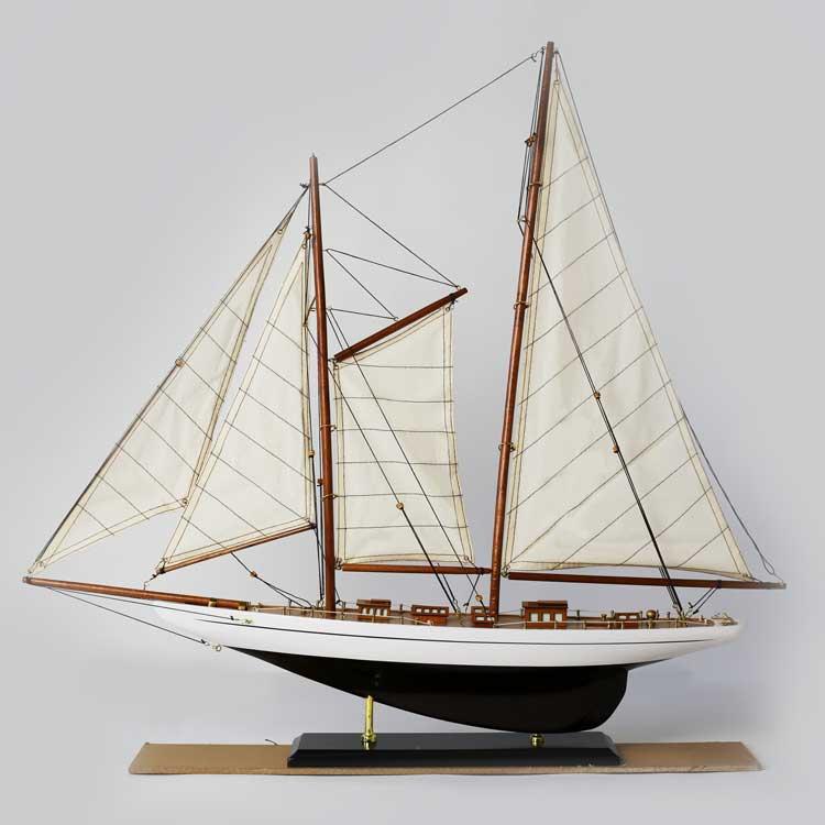 Sailing Yacht (black)ヨットの模型 ドイツ·Seaclub(シークラブ) マリン マリンテイスト ビーチ 日本ではレア