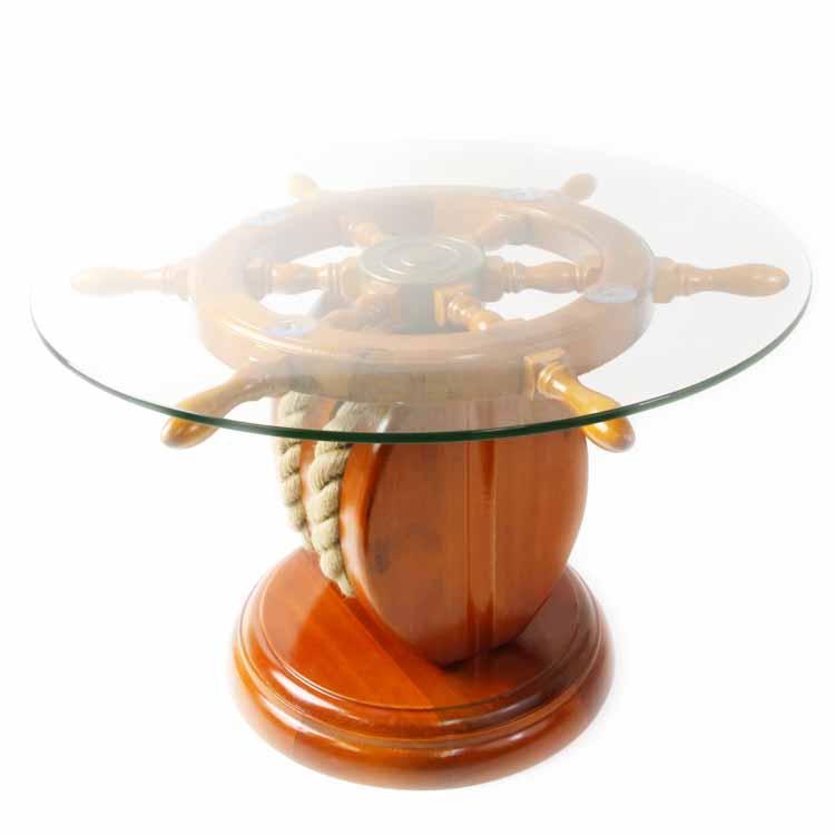 ラダー(舵)のガラステーブル ドイツ・Seaclub(シークラブ)社 マリン マリンテイスト ビーチ コースタル 西海岸 ヨーロッパ市場向け製品 ライトハウス 日本ではレア