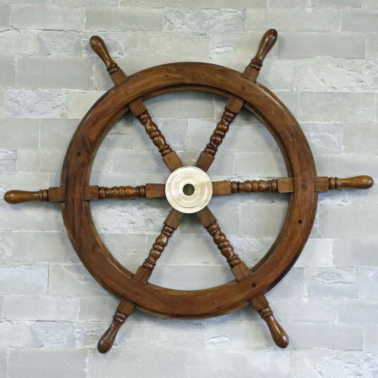 Ship's Wheel 舵輪 ラット 舵 海 ドイツ・Seaclub マリン マリンテイスト レストラン バー 船 西海岸 アンティーク風 飾り デコレーション