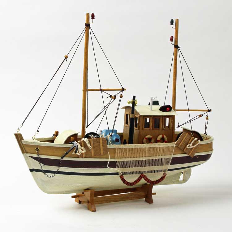 Cutter(beige) 漁船 カッター ドイツ・Seaclub(シークラブ) マリン マリンテイスト ビーチ コースタル 西海岸 木材